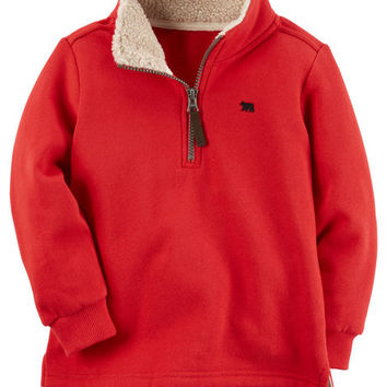 Fleece Half-Zip Sweater