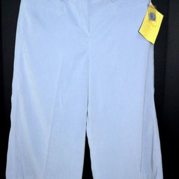 Nina Leonard New Crop Pants Size 14 Suede Feel blue/lavender
