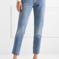 Vetements - + Levi's printed mid-rise straight-leg jeans