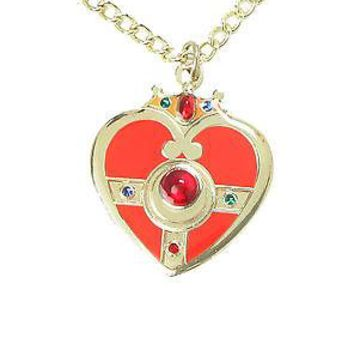 Licensed cool NEW SAILOR MOON RED & GOLD TONED COSMIC HEART Pendant Necklace Costume Jewelry