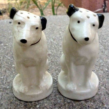 Vintage RCA Nipper/His Master's Voice Salt and Pepper Shakers