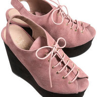 WHIMSICAL Suede Lace-up Wedges - New In This Week  - New In