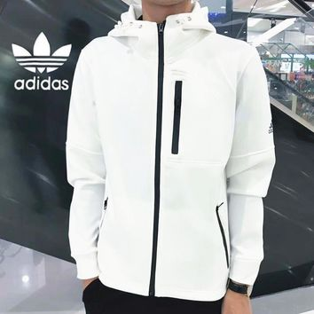 """Adidas"" Women Men Fashion Zip Cardigan Jacket Coat Sweatshirt B-ZDL-STPFYF"
