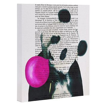 Coco de Paris Panda with bubblegum Art Canvas