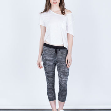 Heathered Capri Joggers