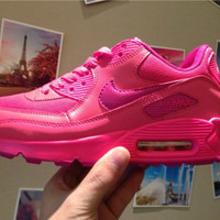 Women AIR MAX 90 CASUAL WOMEN'S PINK RUNNING SHOES