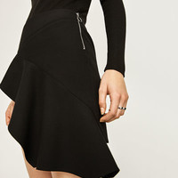 MINI SKIRT WITH CROSSOVER FRILL DETAILS