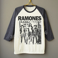 RAMONES Shirt American Punk Rock Shirt Band Shirt Raglan Shirt Baseball Shirt Unisex Shirt Women Shirt Men Shirt Jersey Long Sleeve Shirt