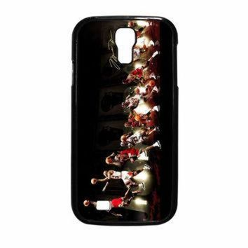 DCKL9 Michael Jordan NBA Chicago Bulls Dunk Samsung Galaxy S4 Case