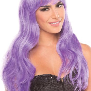 Be Wicked Lingerie Burlesque Wig Lavender