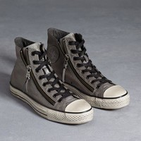 All Star Silver Brushed Leather Chuck Taylor