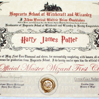 Hogwarts Diploma Perfect for any Witch Wizard or by DiagonAlley