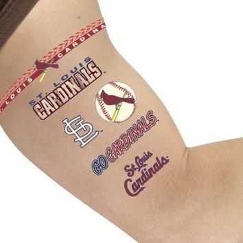 MLB St. Louis Cardinals Tattoos, Black