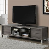 TV Console Media Storage Monarch Specialties 2536 Euro Style Dark Taupe 70""