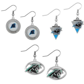 Football Carolina Panthers Charm Fans Earrings Alloy With Enamel American Football Drop Earrings