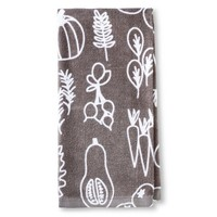 Room Essentials™ Gray Veggies Printed Terry Kitchen Towel
