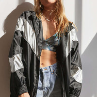 BDG Track and Field Metallic Windbreaker Jacket - Urban Outfitters