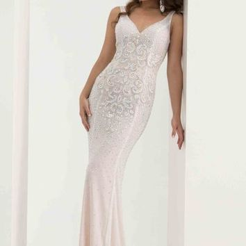 Jasz Couture Long Fitted Dress 5683