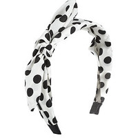 Monochrome Polka Dot Bow Alice Band