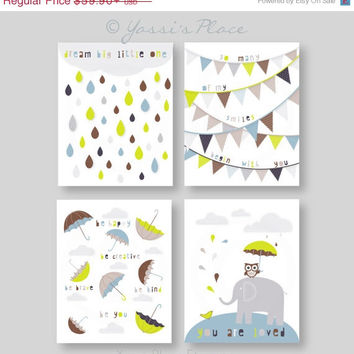 ON SALE Dream Big, Kids Wall Art. Nursery Decor, Boy Art, You Are Loved-So many of my smiles begin with you- Be you - UNFRAMED Prints