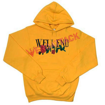 Welleend Gold Yellow Color Hoodie