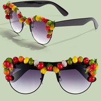 Women's Gasoline Glamour 'Coco' 47mm Sunglasses - Fruit Punch