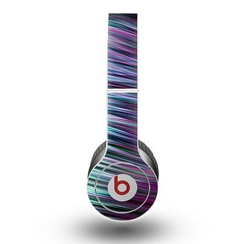The Pink & Blue Vector Swirly HD Strands Skin for the Beats by Dre Original Solo-Solo HD Headphones