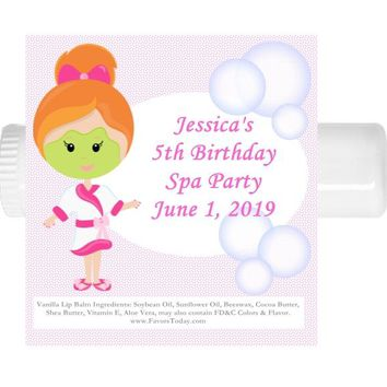 15 Spa Birthday Party Lip Balm Favors