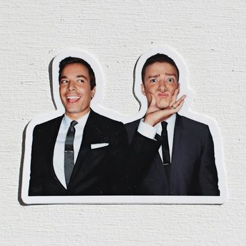 jimmy + justin stickers