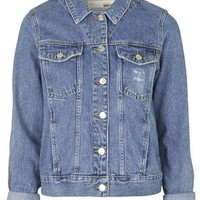 TALL Denim Jacket - Mid Stone