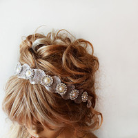 Bridal Hair Accessories, Rhinestone and Pearl Headband, Bridal Headband, Wedding Hair Accessories, Wedding Headband