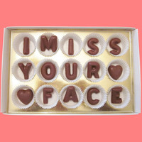 I Miss Your Face Large Milk Chocolate Letters