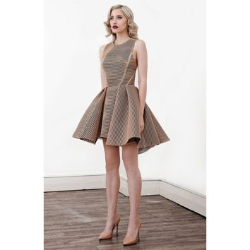 Jet  Full Cocktail Dress in Caramel