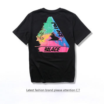 Palace Cotton Tee Round-neck Short Sleeve T-shirts