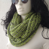 Knitted Scarf, Grey Scarf