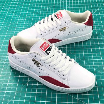 Puma Basket Classic Metallic Casual White Red Sneakers - Best Online Sale