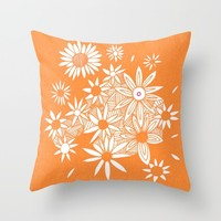 sunny flowers Throw Pillow by Marianna Tankelevich   Society6