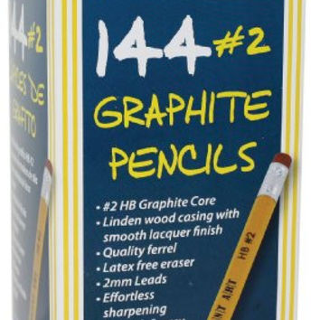 Sargent Art 144 Count Graphite Pencil with Eraser