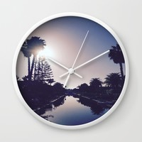 Venice Canals By Sunset Wall Clock by Love Lunch Liftoff
