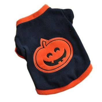 Dog Halloween Pumpkin Shirt