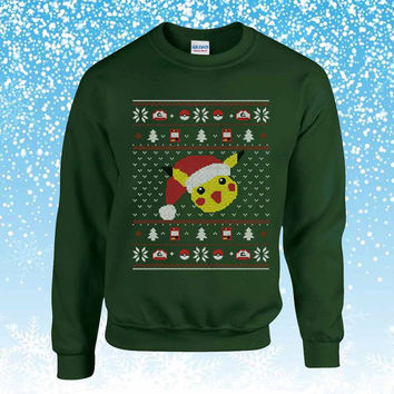 Pokemon pikachu Ugly Christmas Sweater sweatshirt unisex adults