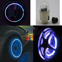 New Hot 1 Pair Motor Bike Car Bicycle Tyre Tire Valve LED Bulbs Wheel Lights