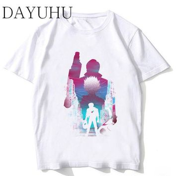 Akira Synthwave T-shirt Men 2018 New Arrivals Tshirt Fashion White High Quality Japanese Anime T Shirt Male Funny Top Tees Shirt