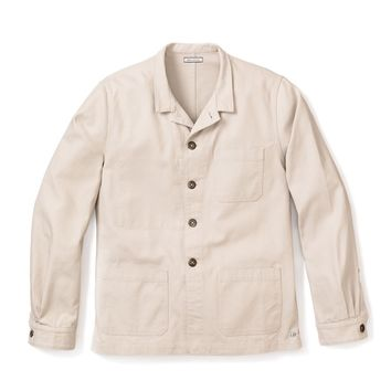 WORK JACKET, OAT ORGANIC CANVAS