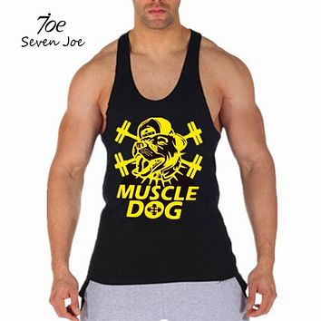 Men's Tank Tops Muscle Stringer New Muscle Dog Cotton Body Building and Fitness Pro Combat Vests Clothing