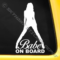 Babe On Board Bumper Sticker Vinyl Decal JDM Euro Turbo Drift Hot Chick Sexy Girl Honda Jeep Acura Drift BMW