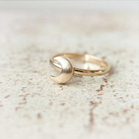 Crescent Moon Ring / Adjustable ring