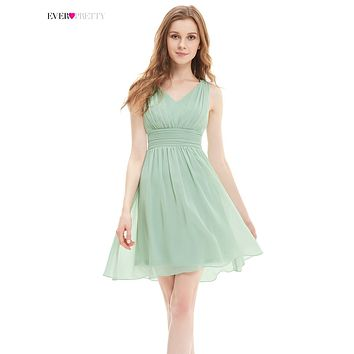 [Clearance Sale] New Cocktail Dress Ever Pretty HE03909 Women A-line V-neck Short Chiffon Modern Cocktail Affordable Dresses