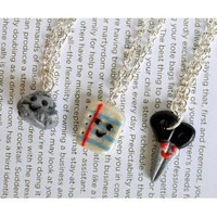 Rock, Paper, Scissors Best Friend Necklaces