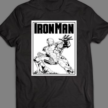 MARVEL'S IRON MAN COMIC BOOK ART T-SHIRT